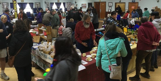 The crowd at the 2019 Oswego County Holiday Farmers' Market