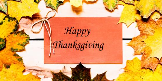 Thanksgiving-Office Closed November 26 &27
