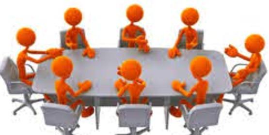 figures around table