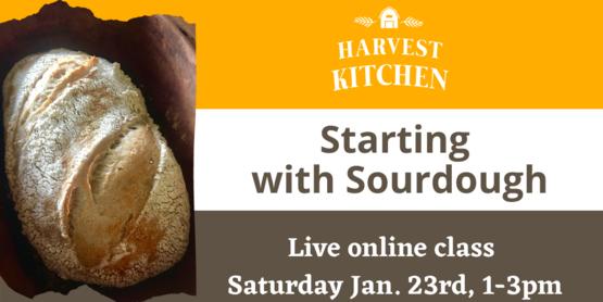 masthead for sourdough baking class