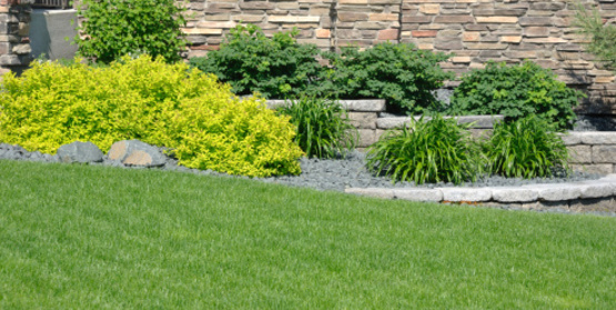 Retaining walls help direct water away from your home.