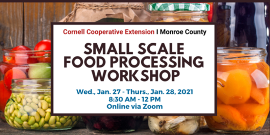 Workshop for Small Scale Food Processors