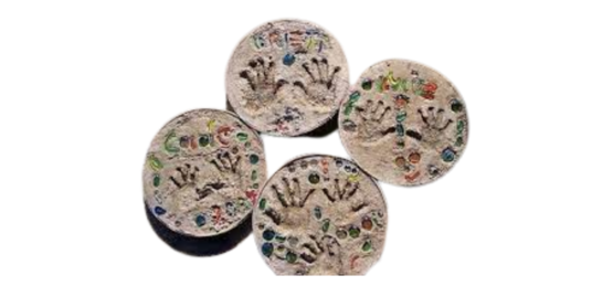 Join us on August 12 to make your own Personalized Stepping Stone