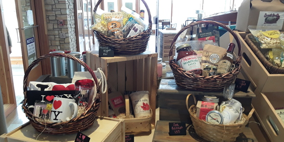 Baskets at TNY store
