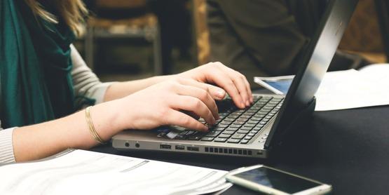 Woman Typing Pexels