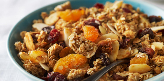 Homemade Granola from Cooking Matters.  Store-bought granola can be loaded with added sugars.