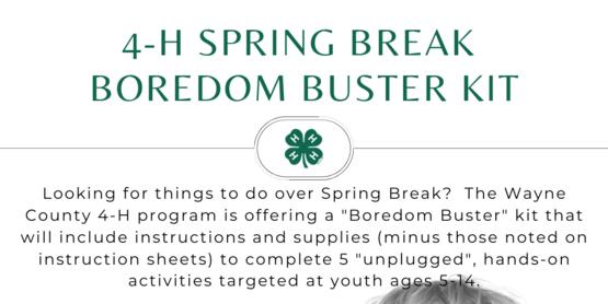 April Break Boredom Buster