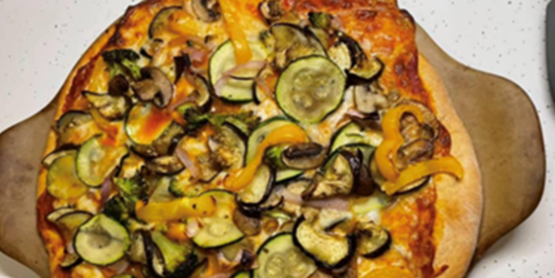 Making a Roasted Veggie Pizza