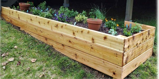 Raised gardening bed