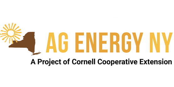 logo with sun, outline of state of New York, Ag Energy and Cornell Cooperative Extension
