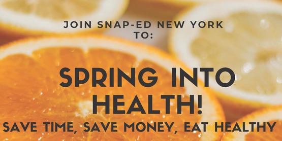 Spring into Health flyer