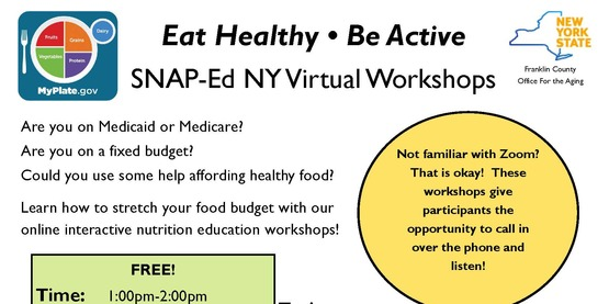 SNAP-Ed NY Virtual Workshops for May