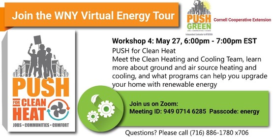 Workshop 4: May 27, 2021, 6:00 - 7:00pm PUSH for Clean Heat