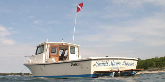 "The ""Cornell Marine Program"" is part of the fleet at SCMELC in Southold."