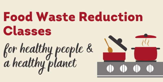 food waste reduction class flyer