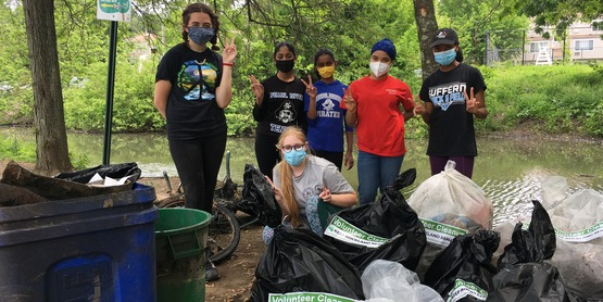 Cleaning the Pascack Brook with Keep Rockland Beautiful
