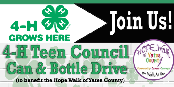 4-H Can & Bottle Drive Promo