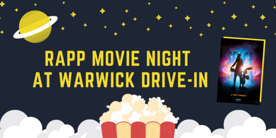 RAPP movie night graphic
