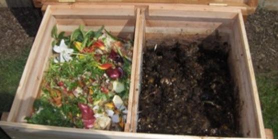 Composting 2-bin unit
