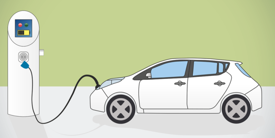 EV and charging station