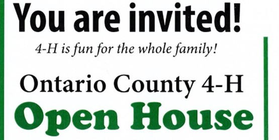 4-H Open House, October 8, 2021. Come see what 4-H is about!