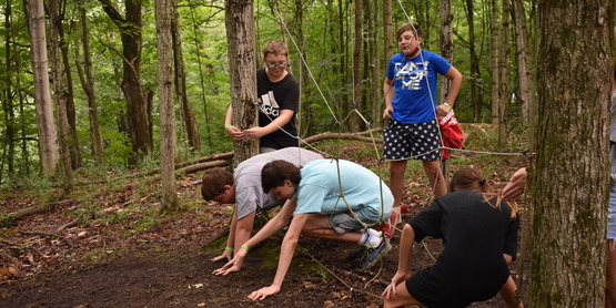 Ropes course at 4-H Camp Wabasso