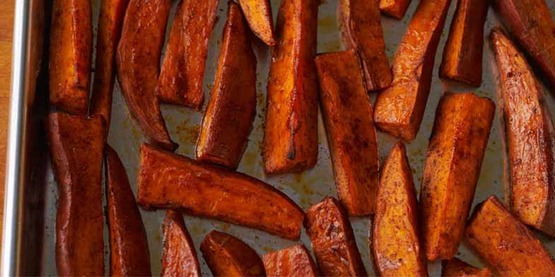Healthy and low-fat Baked Sweet Potato Fries, from our Recipes page!