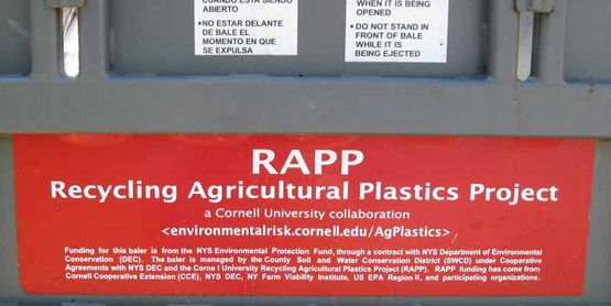"Label on the side of RAPP's ""BigFoot Baler"""