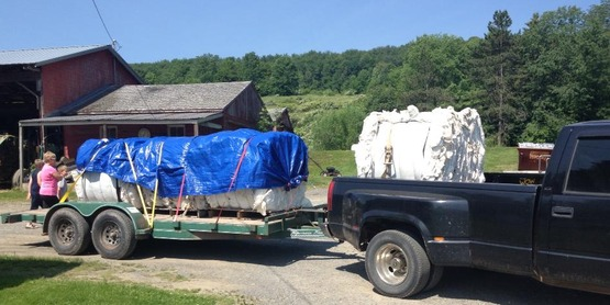 Delivering recycled Ag plastics from Chenango County to Madison County, 2013.