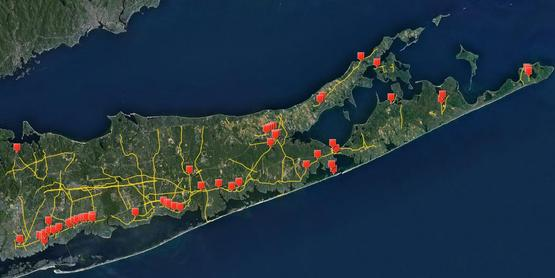 Water Quality Improvement Projects constructed by Suffolk County Department of Public Works
