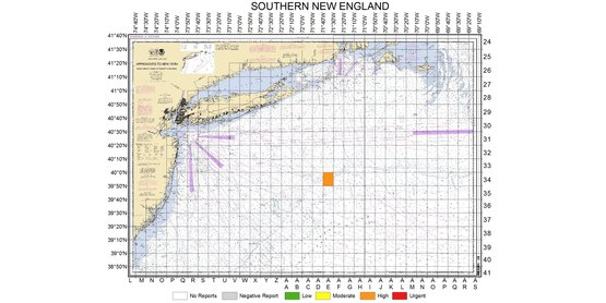 Commercial squid trawl report on 10/20/2014 of high butterfish bycatch in Southern New England