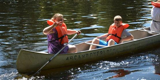 Canoeing at 4-H Camp Overlook