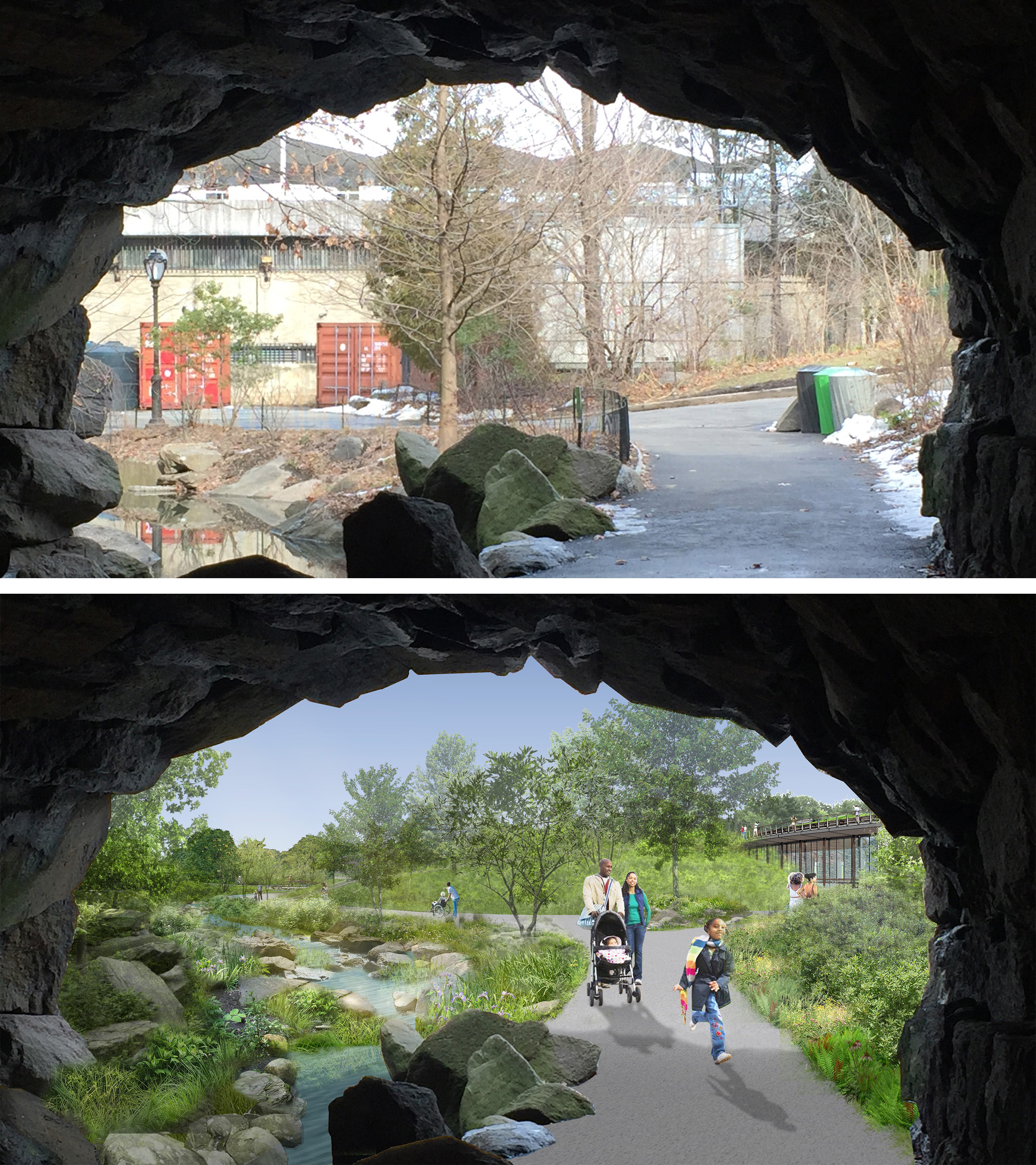 Huddlestone Arch Before and After