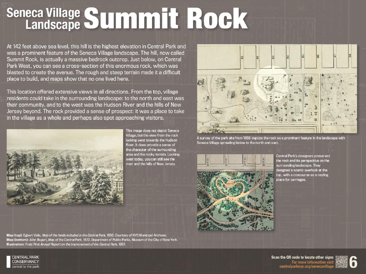 Outdoor Exhibit to Honor the History of Seneca Village