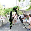 praying mantis puppet at the party