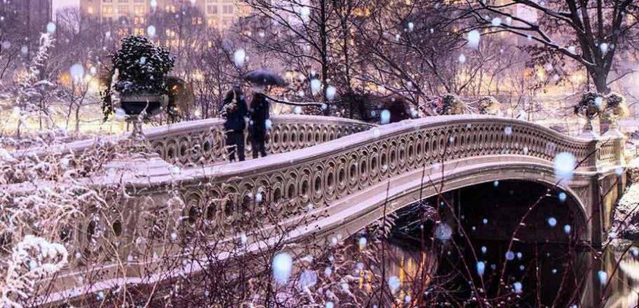 Bow Bridge, picturesque in winter
