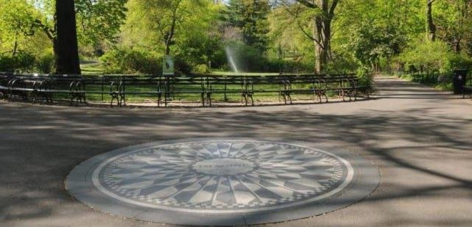 The mosaic at Strawberry Fields