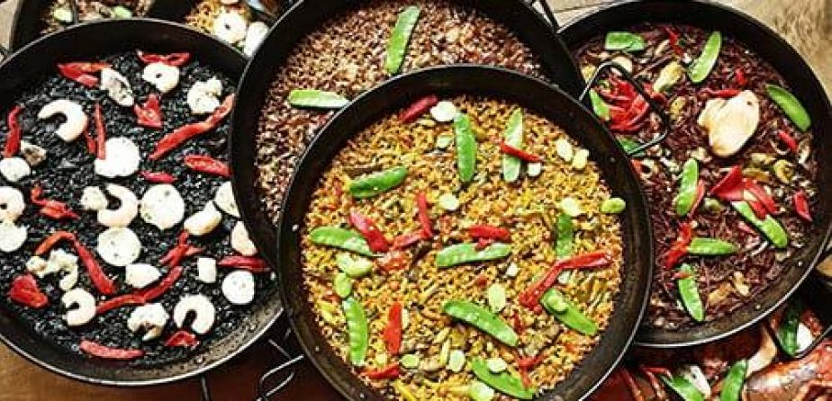 A few examples of paella from Socarrat