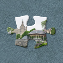 A piece of jigsaw puzzle showing Belvedere Castle