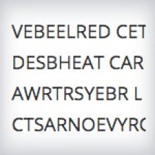 An excerpt showing scrambled words