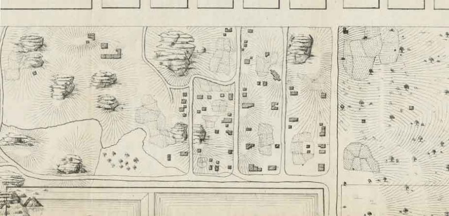 Detail of the Viele Map of Seneca Village