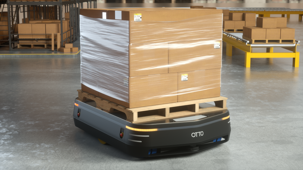 OTTO 1500 Self driving vehicle with pallet