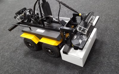 Jackal-based robot maps radiation environment in ROS
