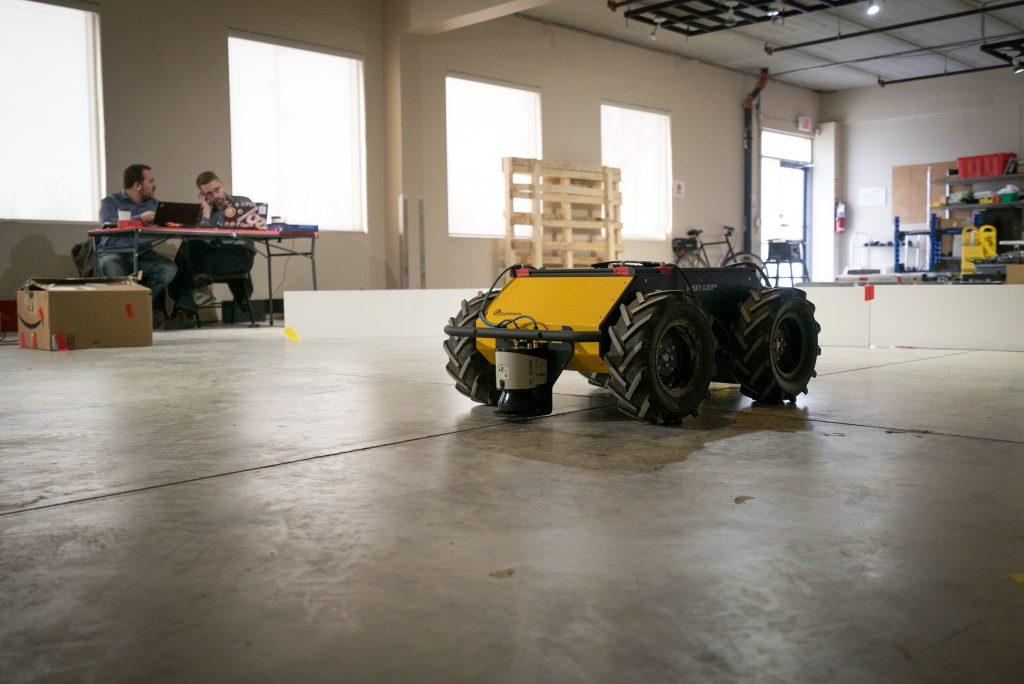 Husky UGV robot testing