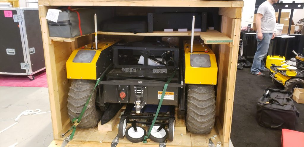 Robot in crate