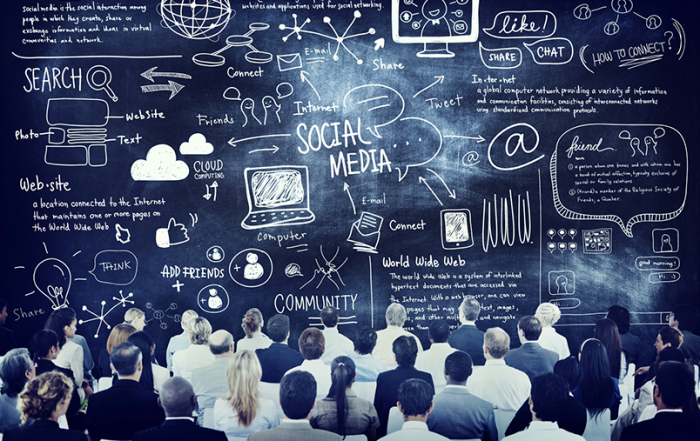 Group of Business People Learning About Social Media