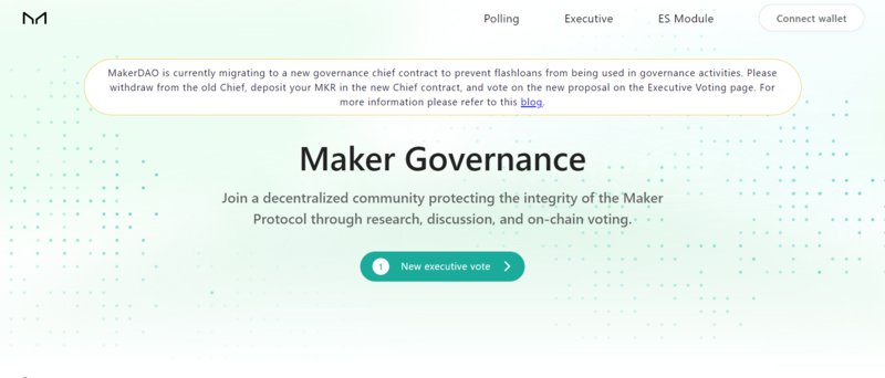 Maker governance page