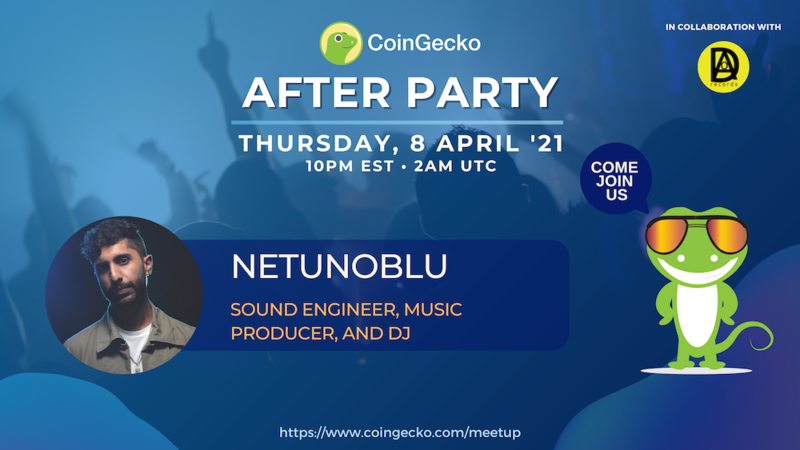 Netunoblu at CoinGecko After Party