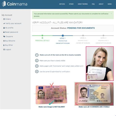 Step By Step Guide In Buying Bitcoin With Coinmama