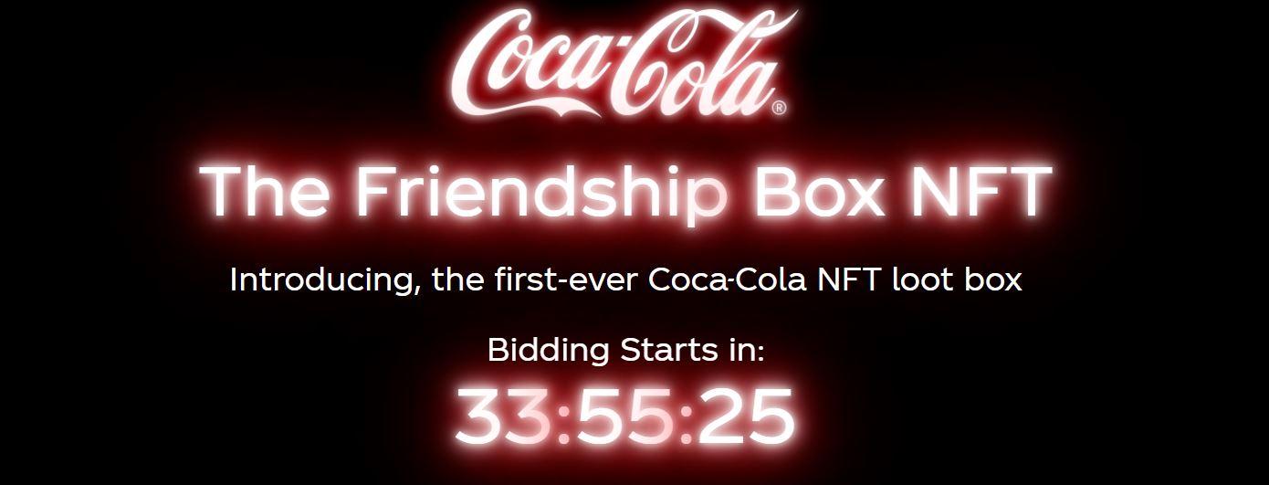 Coca-Cola NFT: Kultmarke versteigert erste NFT Sammlung